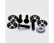 KIT DE FIXATION CARENAGE & HABILLAGE PRO-BOLT NOIR M6 x 25 mm