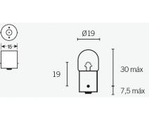 AMPOULE CLIGNOTANTS BA15S  TYPE R5 12V 5W