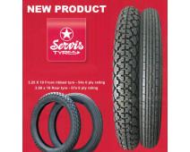 Paire de pneus pour moto classique 3.25/19 et 3.50/19 Service Classic Tyres