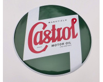 PLAQUE METAL CASTROL BOMBEE Ø 395 mm