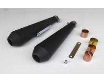 SILENCIEUX  TYPE MEGATON NOIR MAT  Lg 440 mm ( Paire )