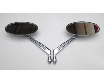 PAIRE DE RETROVISEURS  SHIFT OVAL CHROME