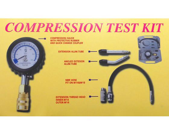 SODIAL Automotive Kit De Testeur De Jauge De Testeur De Compression De Moteur /à Essence De Motos