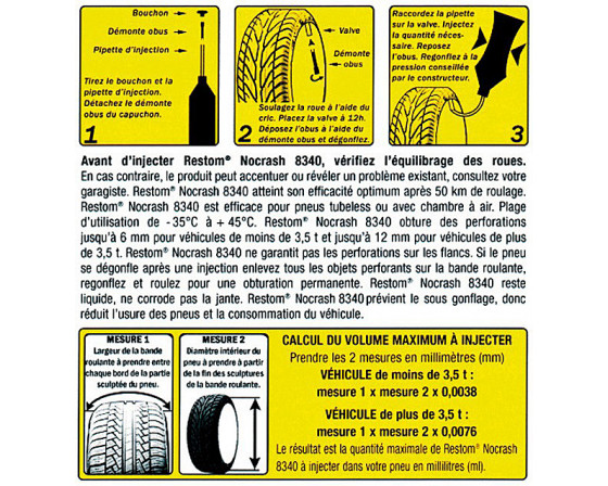 ANTI CREVAISON PREVENTIF RESTOM NOCRASH 8340, 500 ml