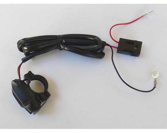 SUPPORT PRISE USB DE GUIDON ÉTANCHE POUR GUIDON Ø 22 ET 25.4 mm